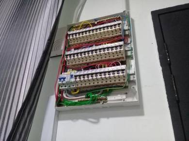 Aircond-service & eletrical \wiring.lampu