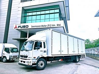 Mitsubishi Fuso 33ft Box 18000kg 10 ton Lori Baru