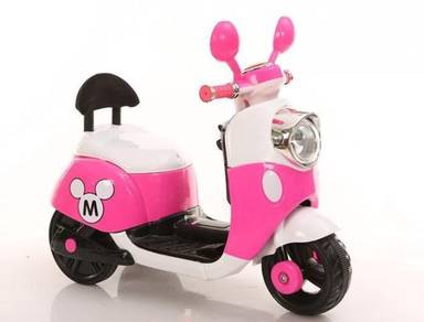Kids cute pink bike scooter permainan kidsJB