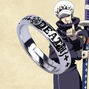 One piece Luffy Ace trafalgar law death Ring 925 s