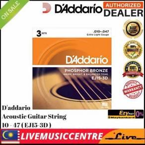 DAddario EJ15-3D Acoustic Guitar Strings EJ15