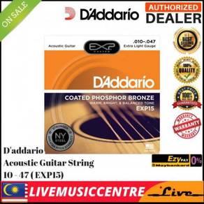 DAddario EXP15 Extra Light Acoustic Guitar Strings