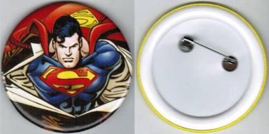 Superman Super Hero Cartoon #2 Button Badge 58mm