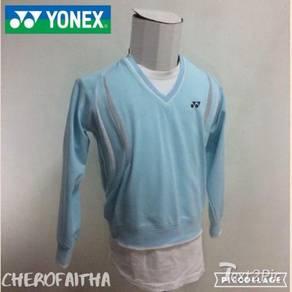 Baju yonex v neck pullover sweater female