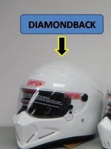 SIMPSON ninja diamondback white helmet