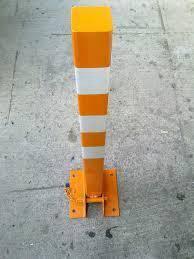 Permanent square metal parking post 750 mm
