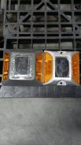 Solar aluminium road stud