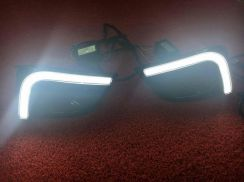 Toyota vios oem drl led daylight with signal light