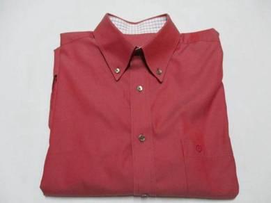 Goldlion Red Long Sleeve Shirt M (Kod LS3226)