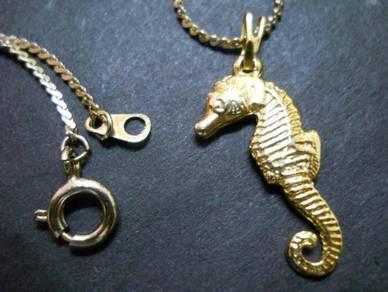 N094 Vintage Sea Horse Necklace