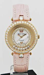 ROYAL CROWN Ladies Jewelry Watch 3628L-STR-RG9