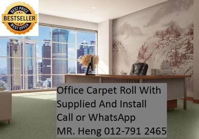 Classic Plain Design Carpet Roll with Install 80TY