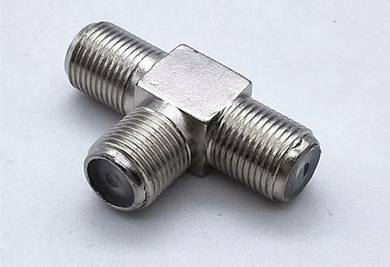 3-Ways RG6 F-type coaxial cable splitter combiner