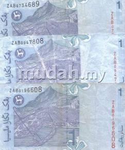 Wang Malaysia 11th Series RM1 Zeti ZAB