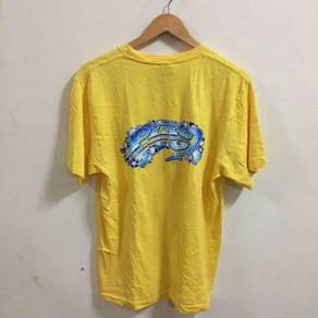 Piko Hawaiian Longboard Wear Size M Yellow Shirt