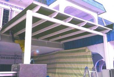 Awning Steel Pergola, Roofing Polycarbonate, ACP