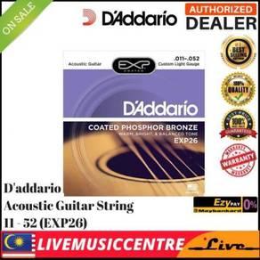 Daddario EXP26 Acoustic Guitar Strings EXP-26