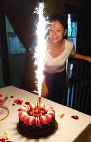 Lilin bunga api, fire work candle