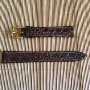 JB Champion Crocodile Leather Watch Strap 16mm