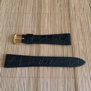 JB Champion Crocodile Leather Watch Strap 19mm