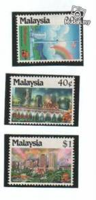 Mint Stamp KL Garden City of Lights Malaysia 1990