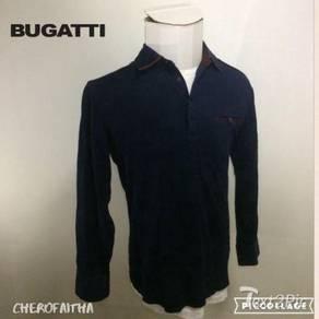 Vintage design Baju Bugatti collar shirt kolar lon