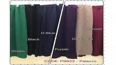 Long Pant Palazzo Plus Size 6 colours (P9922)