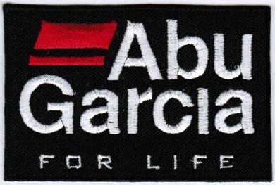ABU Garcia BLACK Fishing Badge Embroidered Patch