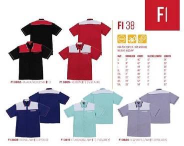 F1 Uniform 65% Polyest 35% Viscose 160Gsm 38XX Uni