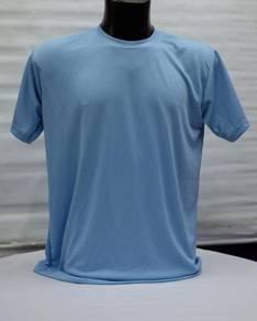 Pelbagai Tshirt Kosong Microfiber Tangan Pendek