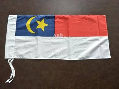 Bendera Melaka Kain Cotton Saiz 1' x 2'