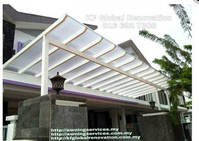 Mild Steel Awning with Polycarbonate Sheet