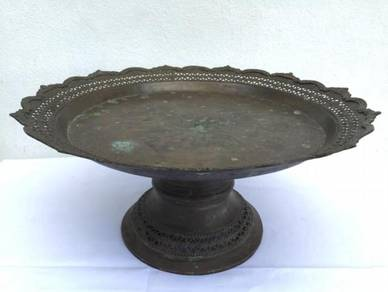 SUPERSIZE 480mm BRASS TRAY Antique Tembaga