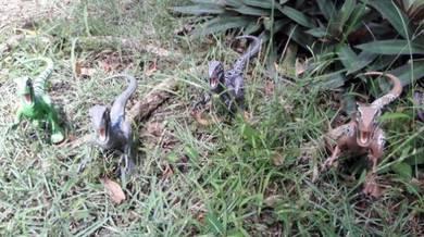 Mattel Jurassic World Raptor Blue Team Set