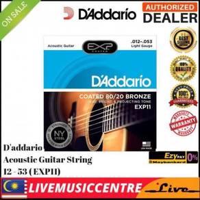 Daddario EXP11 Acoustic Guitar Strings EXP-11