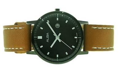 Alba Ladies Leather Strap Date Watch VJ22-X262BBL