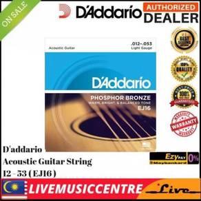 DAddario EJ16 Acoustic Guitar Strings EJ-16