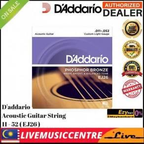 DAddario EJ26 Acoustic Guitar Strings EJ-26