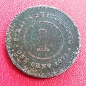 Straits Settlements 1 Cent 1875