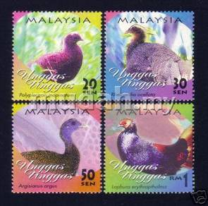 Mint Stamp Unggas Malaysia 2000