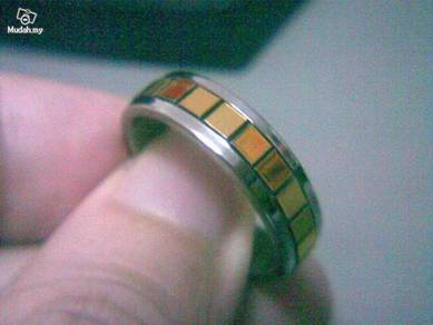 ABRSS-F005 Mens Design Gold Silver Stainless Ring
