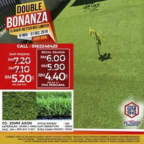 Hebahan promosi double bonanza-karpet rumput