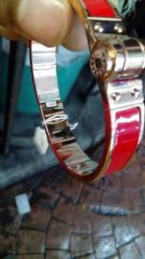 Clic clac gm men bracelet red