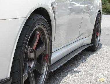 Evo X 10 Carbon Varis Side skirt Diffuser bodykit