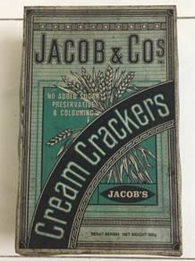 Jacob's Cream Crackers Biscuit Bekas Metal Tin