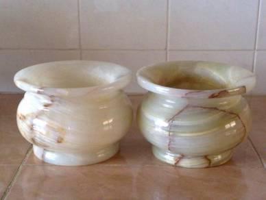 Pasu marmar marble vase pot 2