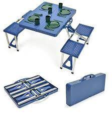 Camping meja picnic new blue colour 4 seat