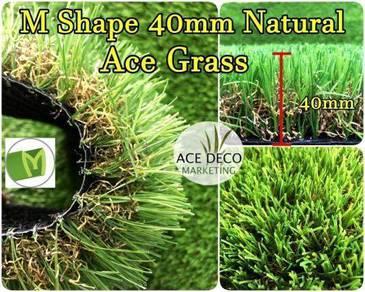 M40mm Natural Artificial Grass Rumput Tiruan 19