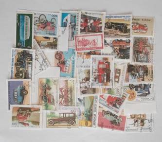 Theme stamps vehicles 30 pcs