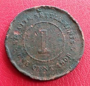 Straits Settlements 1 Cent 1908